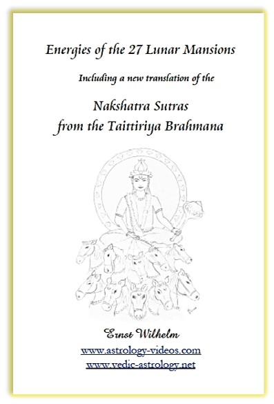 Nakshatra Sutras translation by Ernst Wilhelm